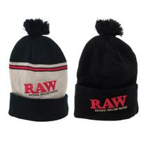 RAW® - X Rolling Papers Pom Pom Winter Beanie (MSRP $17.00)