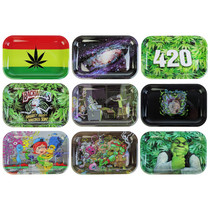 "Metal Design Rolling Tray - Medium 11""x7"" (MSRP $15.00)"
