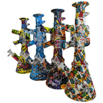 """11"""" Silicone AK47 Water Transfer Beaker Water Pipe - with 14M Bowl (MSRP $50.00)"""