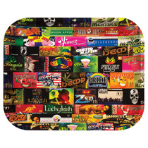 RAW® - Metal Rolling Tray History 101 - Large (MSRP $20.00)