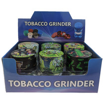 63mm 4Part Assorted Full Wrap RM Metal Grinder - Display of 12 (MSRP $25.00ea)