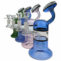 "7"" Color Hanging Bell Banger Hanger Water Pipe - with 14M Bowl & 4mm Banger (MSRP $75.00)"