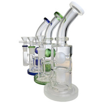 "8"" Color Floating Ball Banger Hanger Water Pipe - with 14M Bowl & 4mm Banger (MSRP $95.00)"