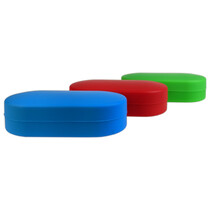 Silicone Container 100mm - Assorted Color 6 Well Pill  (MSRP $8.00)