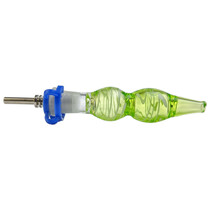 """4.7"""" Color Wave Nectar Pipe - with 10M Titanium Tip (MSRP $30.00)"""