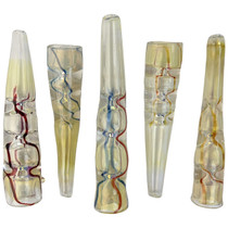 """4"""" Fumed Bullet Shaped Thin Line Chillum Hand Pipe - 5 Pack (MSRP $30.00ea)"""