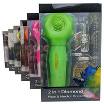 On Point Glass - Diamond 2in1 Hand & Nectar Pipe Kit - Display of 6 (MSRP $30.00ea)