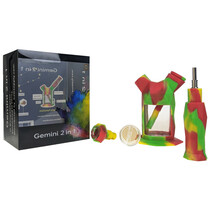 On Point Glass - Gemini 2in1 Water Nectar Pipe - with 14M Bowl & 10M Quartz Tip (MSRP $50.00)