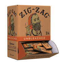 Zig Zag - Unbleached Ultra Thin Rolling Papers 1¼ (50ct) - Display Of 48 (MSRP $1.50ea)