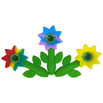 """4.5"""" Silicone Assorted Sunflower Spoon Hand Pipe (MSRP $35.00)"""