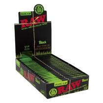 RAW® - Organic Hemp Black Rolling Papers 1¼ (50ct) - Display 24 (MSRP $4.00ea)
