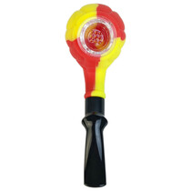 "5.5"" Multi Color Silicone Sherlock Hand Pipe (MSRP $45.00)"
