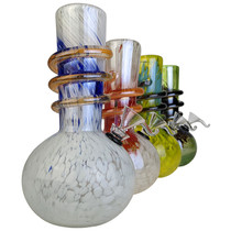 "8"" Round Bottom Twist Grip Soft Glass Water Pipe - with Funnel Slider (MSRP $30.00)"
