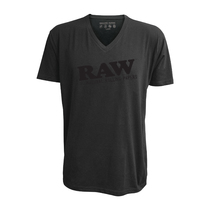 RAW® - V-Neck Black Logo T-Shirt (MSRP $40.00)