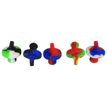 Silicone Mixed Color UFO Carb Cap - 5 Pack (MSRP $5.00ea)