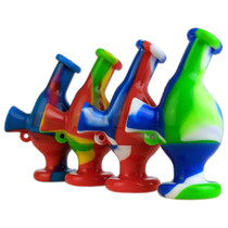"""3"""" Mixed Color Silicone Alien Blunt Bubbler Keychain (MSRP $10.00)"""