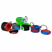 Silicone Storage 90mm - Mixed Color Jar Keychain - 5 Pack (MSRP $3.00ea)