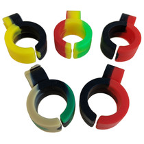 Silicone Mixed Color Blunt Ring - 5 Pack (MSRP $5.00ea)