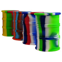 "3.8"" Silicone Assorted Color Oil Barrel Container - Single (MSRP $12.00)"