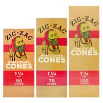 Zig Zag - Unbleached Pre-Roll Cone 1¼  - BULK (MSRP $1.00ea)