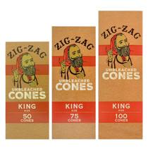 Zig Zag - Unbleached Pre-Roll Cone King Size - BULK (MSRP $1.00ea)