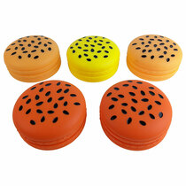 Silicone Assorted Color Hamburger Storage 80mm - 5 Pack (MSRP $12.00ea)