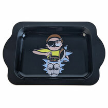 "8.25"" x 5.5"" Metal Handle Rolling Tray (MSRP $15.00)"