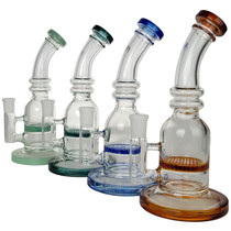 """8.5"""" Honeycomb Perc Water Pipe - with 14M Bowl & 4mm Banger (MSRP $45.00)"""