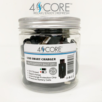 Extra USB Chargers for 510 Slim Pen Battery By 4SCORE (Jar of 25) *Drop Ship* (MSRP $4.99 Each)