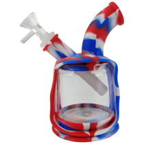 """6"""" Silicone Glass Kettle Water Pipe - with 14M Bowl (MSRP $40.00)"""