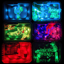 "7x4.5"" RM LED Rolling Tray - Assorted Design Display of 6 (MSRP $30.00ea)"