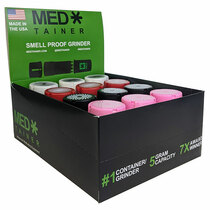 Medtainer Premium Smell Proof Grinder/Container - Display of 12 (MSRP $20.00ea)