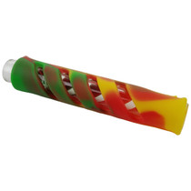 "3.5"" Silicone Encased Mixed Color Chillum Hand Pipe - 5 Pack (MSRP $10.00ea)"