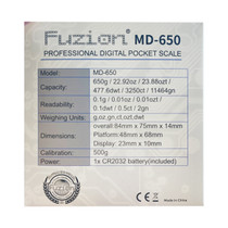 Fuzion - MD-650 Scale - 650g x 0.1g (MSRP $20.00)