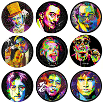 "8"" Pop Art Legends Collection Round Dab Mat By StonerDays *Drop Ship* (MSRP $11.99)"