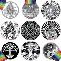"8"" Round Creativity Dab Mat Set By StonerDays *Drop Ship* (MSRP $14.99)"