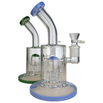 "8.5"" Matrix Perc Banger Hanger Water Pipe - with 14M Bowl & 4mm Banger (MSRP $65.00)"