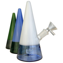 "7"" 2 Tone Cone Banger Hanger Water Pipe - with 14M Bowl & 4mm Banger (MSRP $65.00)"