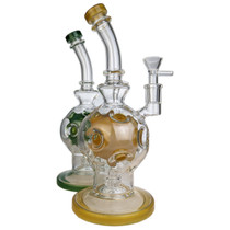 "10"" Inner Assorted Color Fab Egg Water Pipe - with 14M Bowl & 4mm Banger (MSRP $125.00)"