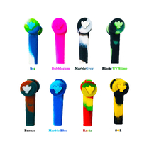 """4"""" Silicone Trio 3 in 1 Multi Function Pipe By Stratus (Pack of 11 Asstd Colors) *Drop Ship* (MSRP $19.99 Each)"""