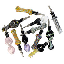 """BULK - 4"""" Slyme Nectar Pipe with Tip - 10 Style - 20 Count - Asst 03 (MSRP $30.00ea)"""