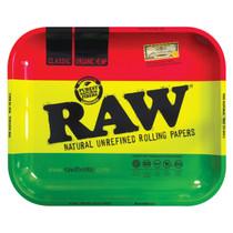 RAW® - Metal Rolling Tray Rasta Design - Large (MSRP $15.00)