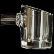 22mm Dia. Slant Cut 2mm Quartz Banger - 90 Deg (MSRP $20.00)