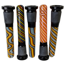 "3"" Assorted Design 18mm to 14mm Down Stem - 5 Pack (MSRP $10.00ea)"