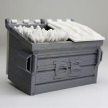 Medium - 3D Printed QTip DB Dumpster By Dabber Box *Drop Ship* (MSRP $29.99)
