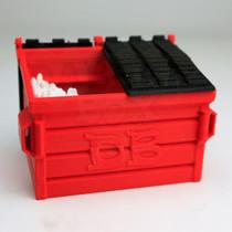 Large - 3D Printed QTip DB Dumpster By Dabber Box *Drop Ship* (MSRP $34.99)