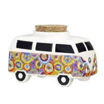 Roast & Toast Stash Jar - Vintage Bus Flower Burst Design (MSRP $15.00)