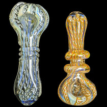 "5"" Fumed Latticinio Outer Work Spoon Hand Pipe - Single (MSRP $45.00)"