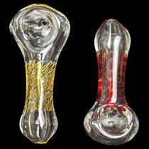 "3"" Assorted Color Body Spoon Hand Pipe - 2 Pack (MSRP $25.00ea)"