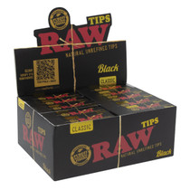 RAW® - Black Rolling Tips (50ct) - Display of 50 (MSRP $1.50ea)